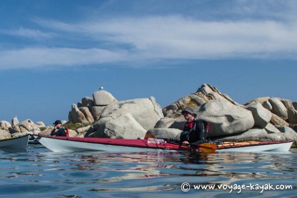 Kayak de mer Lavezzi