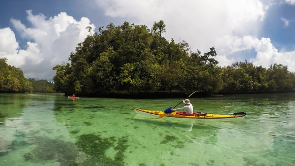 sea  kayak in Raja Ampat